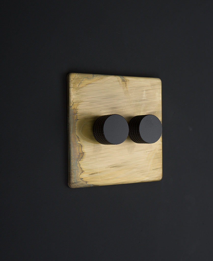smoked gold & black double dimmer standard