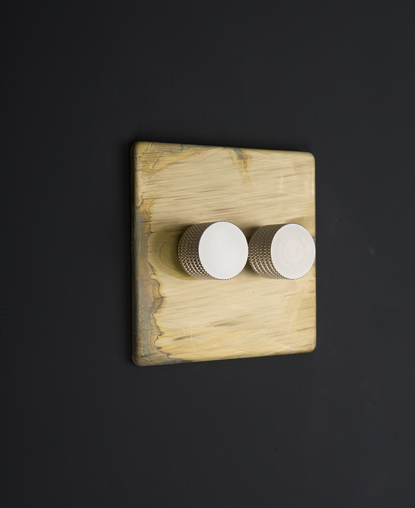 smoked gold & silver double dimmer standard
