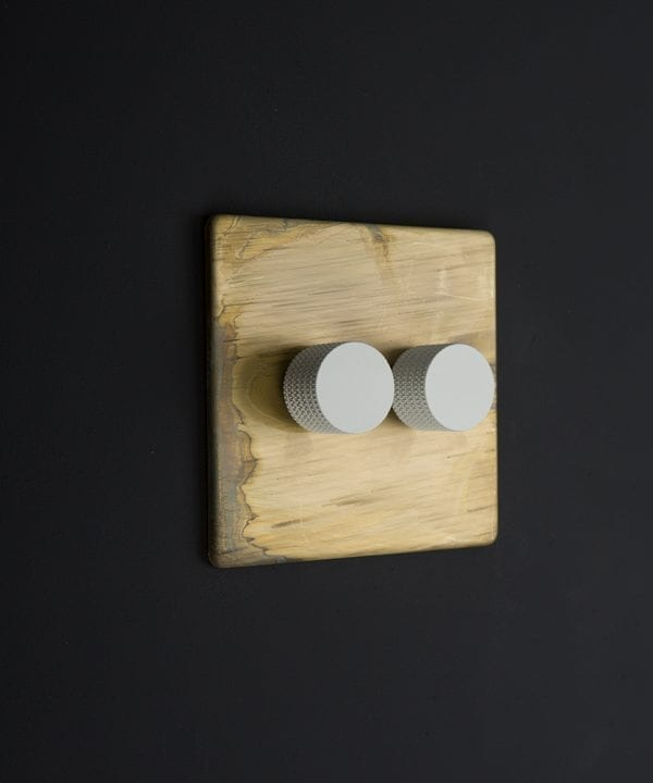 smoked gold & white double dimmer standard