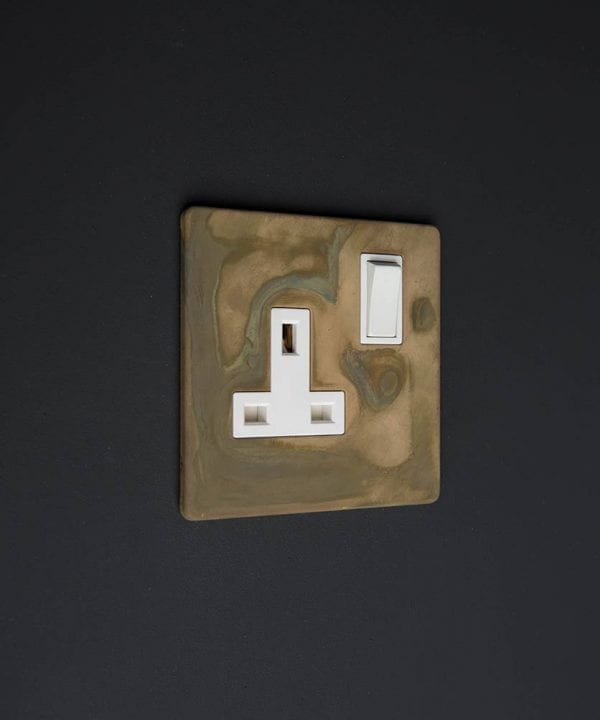 smoked gold & white single socket