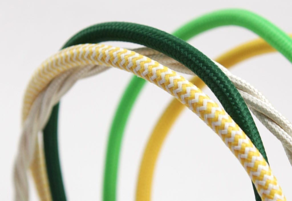 spring colours fabric cable