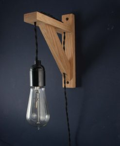 Bed Side Wall Light Hebden Black Twisted