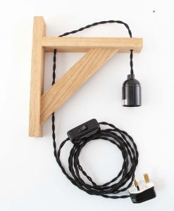 Wooden Bracket Bedside Lamp