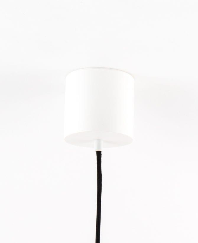 geometric pendant light ceiling rose white