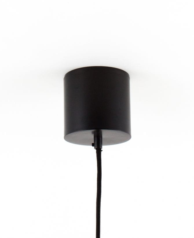 geometric pendant light ceiling rose black