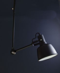 Retro Bar Ceiling Pendant Light Bardsey Black Metal