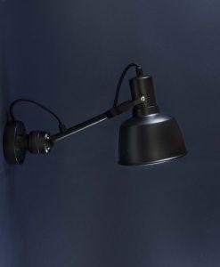 Adjustable Industrial Wall Light Whitkirk Black Metal