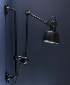 Industrial Bar Wall Light Colton Black Metal Adjustable