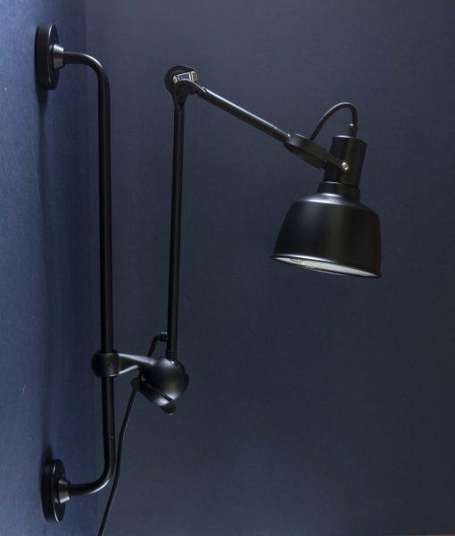 Industrial Bar Wall Light Colton Black Metal Adjustable