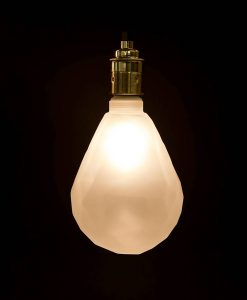 pear shaped frosted geometric bulb