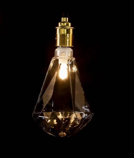 clear diamond shaped bulb