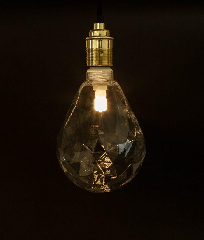 Pear Light Bulb Clear Geometric Bulb