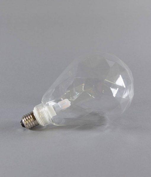geometric light bulb clear pear