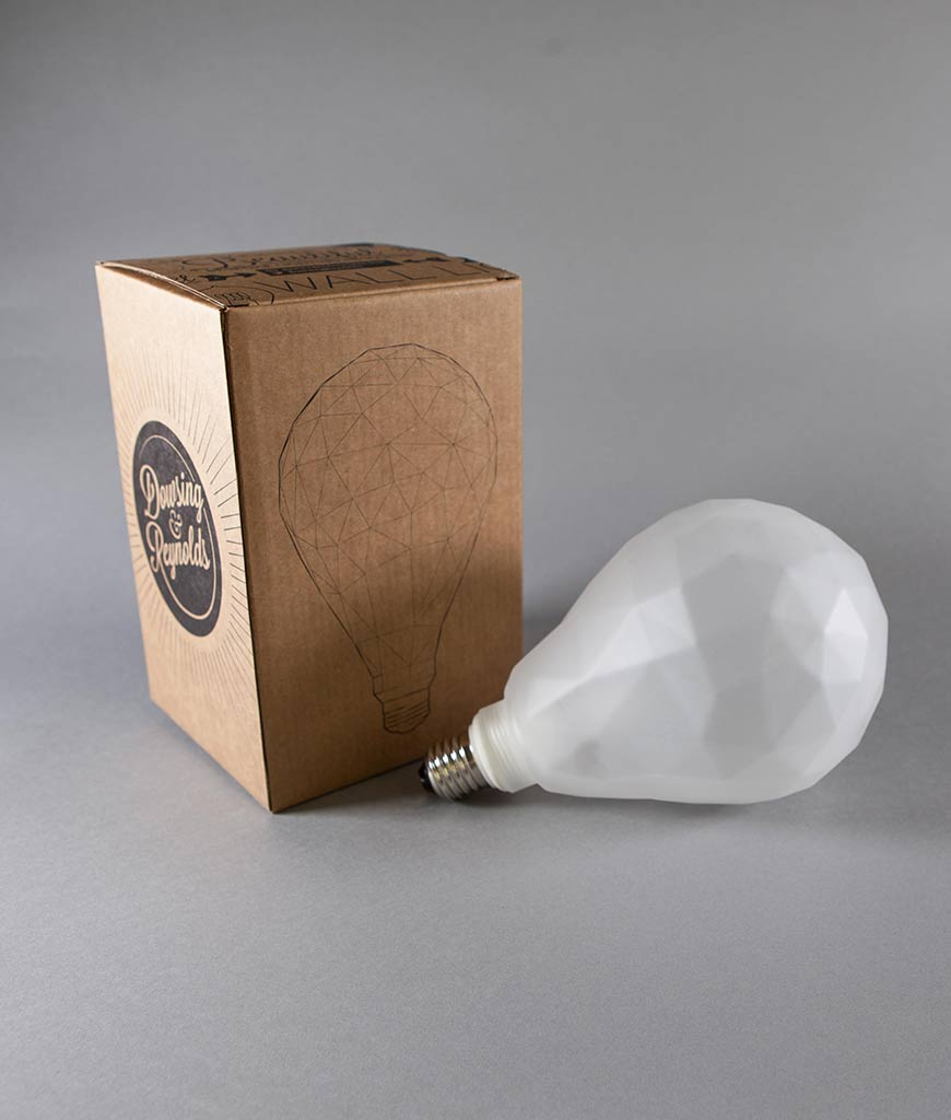 frosted pair geometric LED bulb