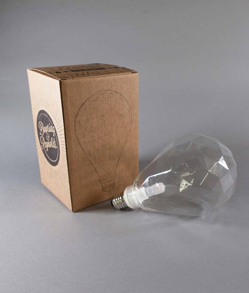 clear pear geometric LED bulb