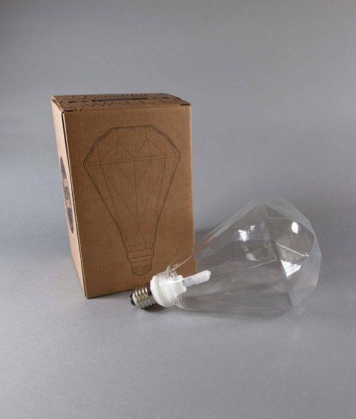 geometric light bulb clear diamond