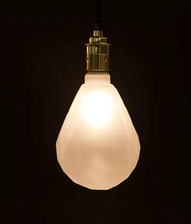 Pear Light Bulb Frosty Geometric Bulb
