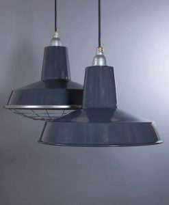 Linton Grey Industrial Lighting - Enamel Industrial Kitchen Lighting