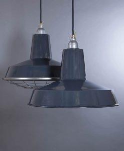 Linton Grey Industrial Lighting - Enamel Industrial Kitchen Lighting