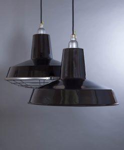 black enamel pendant light Linton