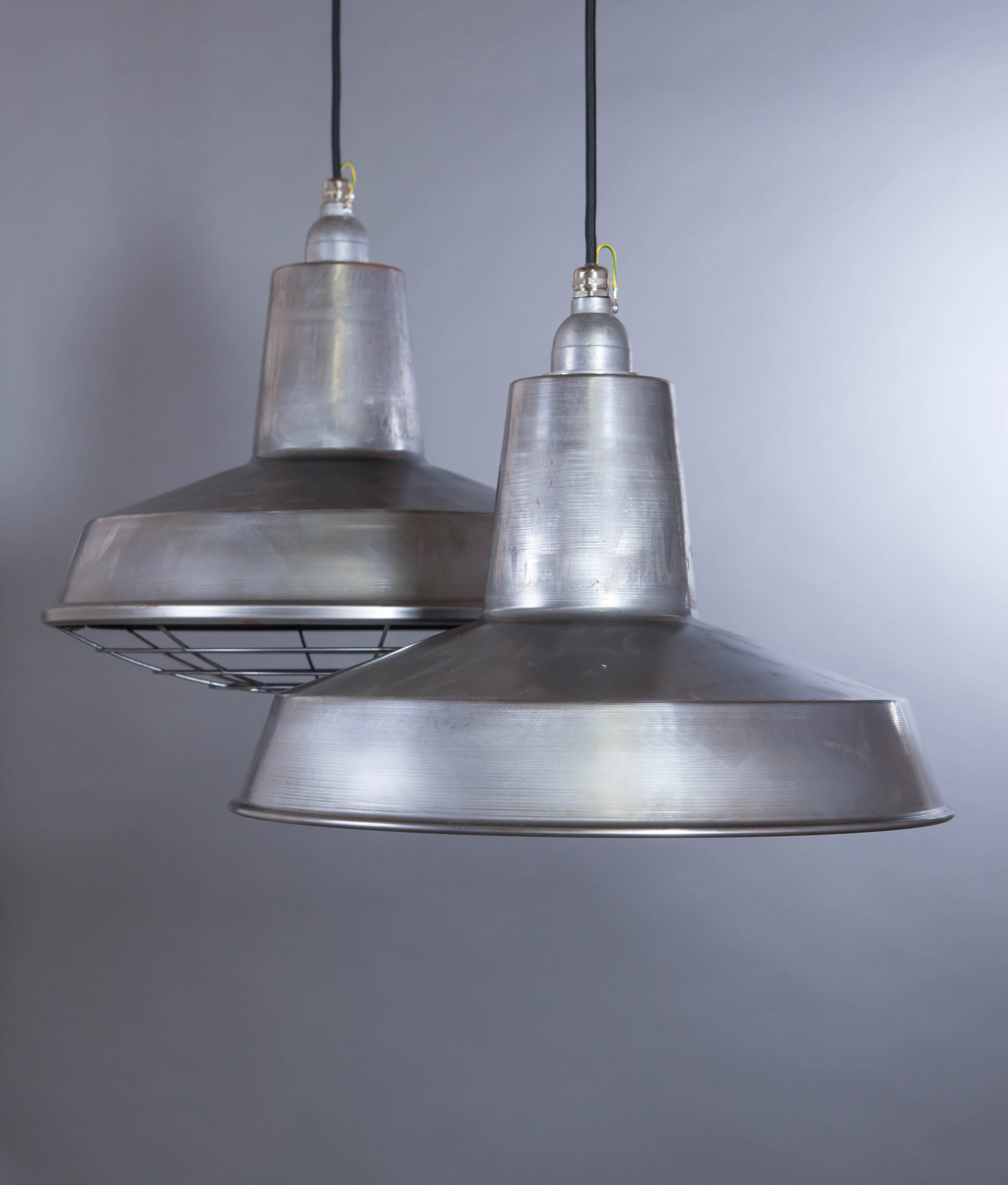 raw steel pendant light linton industrial style ceiling light. Black Bedroom Furniture Sets. Home Design Ideas