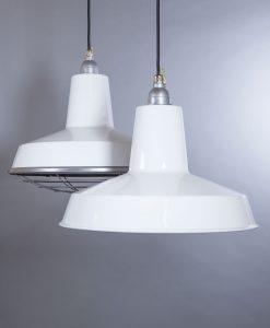 white enamel pendant light Linton