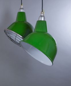 green enamel pendant light Oulton