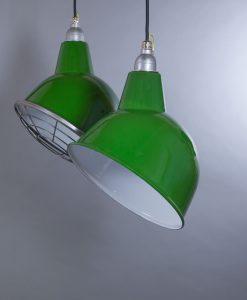 green enamel pendant light Oulton