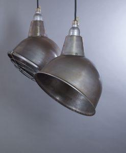 raw steel pendant light
