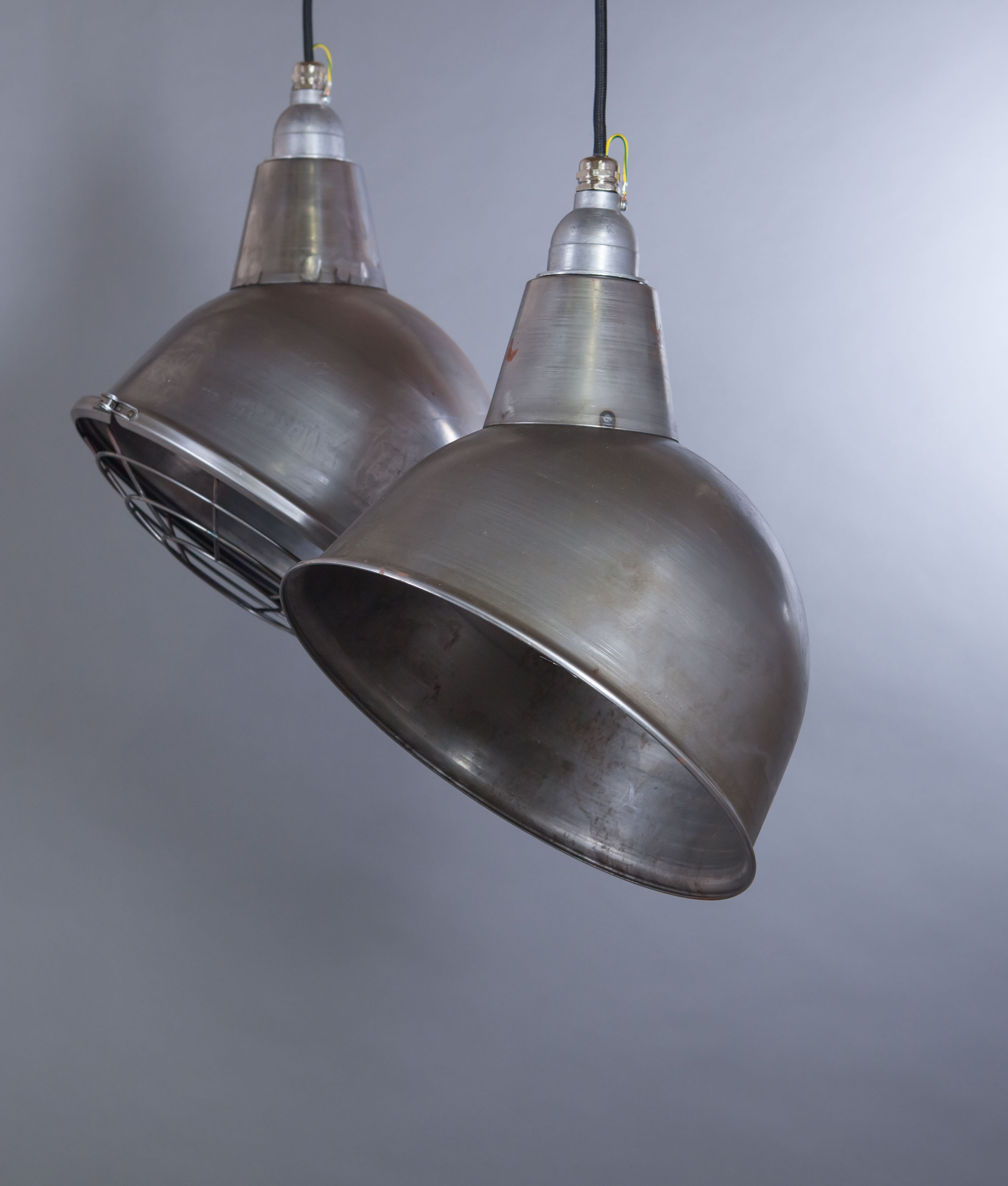 raw steel pendant light oulton industrial style ceiling light. Black Bedroom Furniture Sets. Home Design Ideas