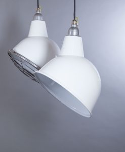 white enamel pendant light Oulton