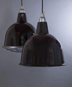 black enamel pendant light stourton
