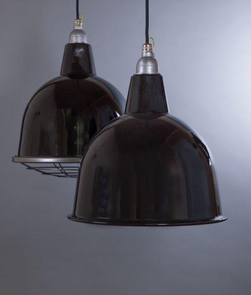 Black Enamel Pendant Light Stourton Industrial Ceiling Light