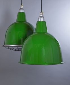 green enamel pendant light Stourton