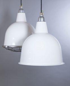 white enamel pendant light Stourton