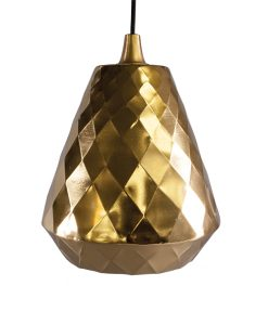 Geometric Pendant Light Brass Metal Shade