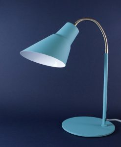Gooseneck Lamp Blue Desk Table Lamp
