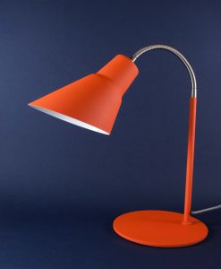 Gooseneck Side Lamp Orange Table Light
