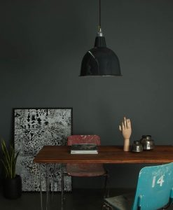 grey enamel industrial kitchen light