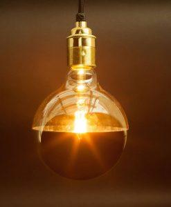 gold mirrored halogen reflector bulb