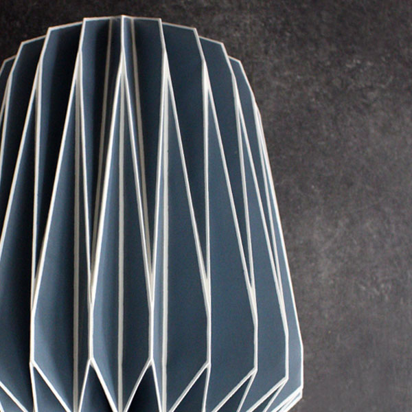 Origami Lampshade Blue