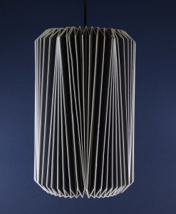 Origami Lampshade Grey Paper Light Shade