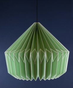 Origami Lampshade Green Paper Light Shade
