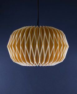 Origami Lampshade Yellow Paper Light Shade