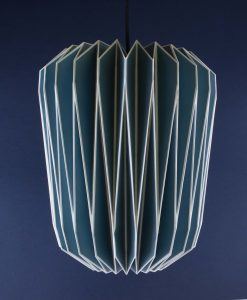 Origami Lampshade Blue Paper Light Shade
