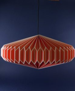 Origami Lampshade Orange Paper Light Shade