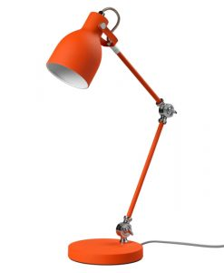 orange metal angled desk light