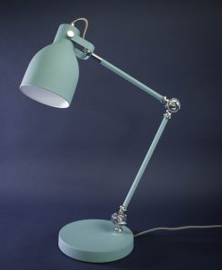 Table Lamp Blue & Silver Desk Light