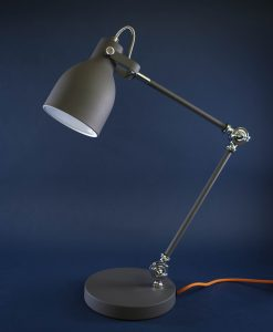 Table Lamp Grey & Silver Desk Light