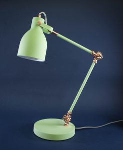 Table Lamp Green & Copper Desk Light